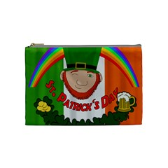 St  Patricks Day  Cosmetic Bag (medium)  by Valentinaart