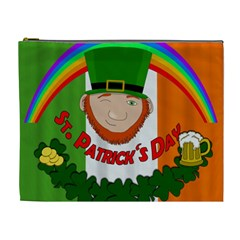St  Patricks Day  Cosmetic Bag (xl) by Valentinaart