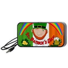St  Patricks Day  Portable Speaker (black) by Valentinaart
