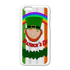St  Patricks Day  Apple Iphone 6/6s White Enamel Case by Valentinaart