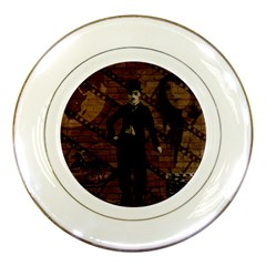 Charlie Chaplin  Porcelain Plates by Valentinaart
