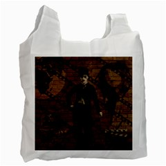 Charlie Chaplin  Recycle Bag (one Side) by Valentinaart
