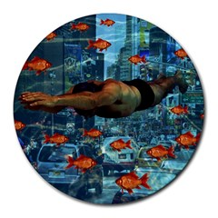 Urban Swimmers   Round Mousepads