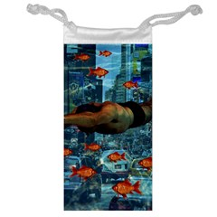 Urban Swimmers   Jewelry Bag by Valentinaart