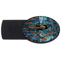 Urban Swimmers   Usb Flash Drive Oval (4 Gb) by Valentinaart