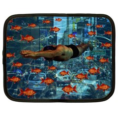 Urban Swimmers   Netbook Case (xxl)  by Valentinaart