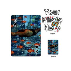 Urban Swimmers   Playing Cards 54 (mini)  by Valentinaart