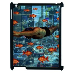 Urban Swimmers   Apple Ipad 2 Case (black) by Valentinaart