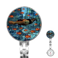 Urban Swimmers   Stainless Steel Nurses Watch by Valentinaart
