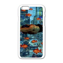 Urban Swimmers   Apple Iphone 6/6s White Enamel Case by Valentinaart