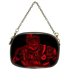 Warrior   Red Chain Purses (one Side)  by Valentinaart