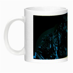 Warrior   Blue Night Luminous Mugs by Valentinaart