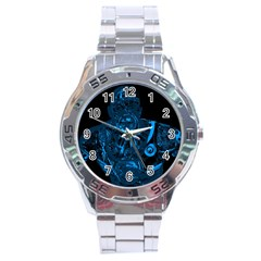 Warrior   Blue Stainless Steel Analogue Watch by Valentinaart
