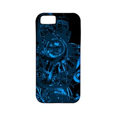 Warrior   Blue Apple Iphone 5 Classic Hardshell Case (pc+silicone)