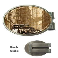 Vintage Old Car Money Clips (oval)  by Valentinaart