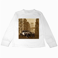 Vintage Old Car Kids Long Sleeve T-shirts by Valentinaart