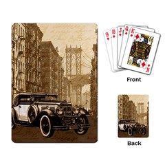 Vintage Old Car Playing Card