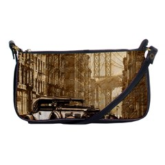 Vintage Old Car Shoulder Clutch Bags by Valentinaart