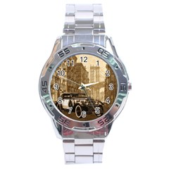 Vintage Old Car Stainless Steel Analogue Watch