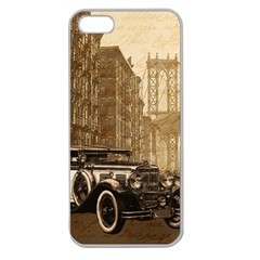 Vintage Old Car Apple Seamless Iphone 5 Case (clear) by Valentinaart
