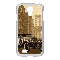 Vintage Old Car Samsung Galaxy S4 I9500/ I9505 Case (white) by Valentinaart