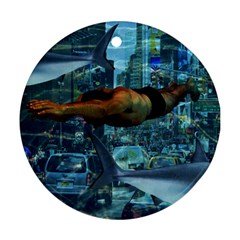 Urban Swimmers   Ornament (round) by Valentinaart
