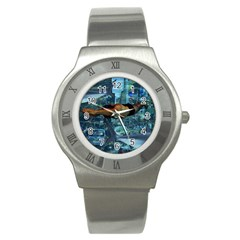 Urban Swimmers   Stainless Steel Watch by Valentinaart