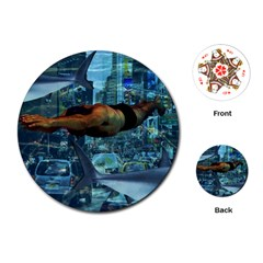 Urban Swimmers   Playing Cards (round)