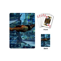 Urban Swimmers   Playing Cards (mini)  by Valentinaart
