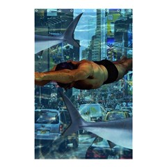 Urban Swimmers   Shower Curtain 48  X 72  (small)  by Valentinaart