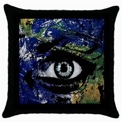 Mother Earth  Throw Pillow Case (black) by Valentinaart