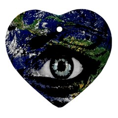 Mother Earth  Heart Ornament (two Sides) by Valentinaart