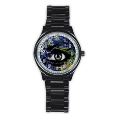 Mother Earth  Stainless Steel Round Watch