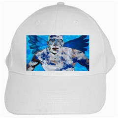 Swimming Angel White Cap by Valentinaart