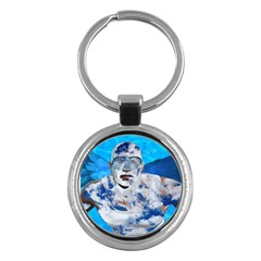Swimming Angel Key Chains (round)  by Valentinaart