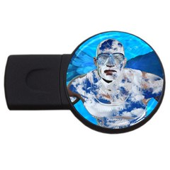 Swimming Angel Usb Flash Drive Round (4 Gb) by Valentinaart