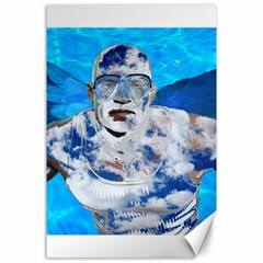 Swimming Angel Canvas 24  X 36  by Valentinaart