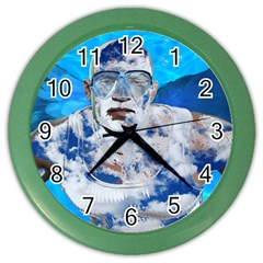 Swimming Angel Color Wall Clocks by Valentinaart