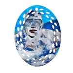 Swimming angel Ornament (Oval Filigree) Front