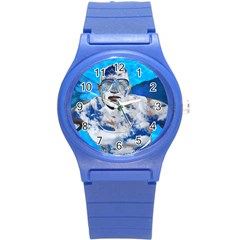 Swimming Angel Round Plastic Sport Watch (s) by Valentinaart