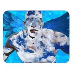 Swimming Angel Double Sided Flano Blanket (large)  by Valentinaart