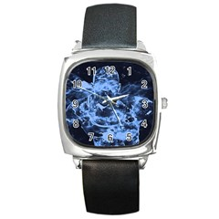 Blue Angel Square Metal Watch