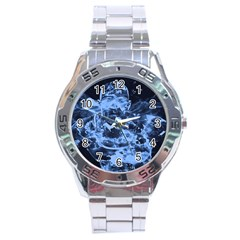 Blue Angel Stainless Steel Analogue Watch by Valentinaart