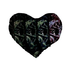 Cyber Kid Standard 16  Premium Flano Heart Shape Cushions by Valentinaart