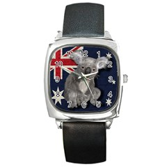 Australia  Square Metal Watch by Valentinaart