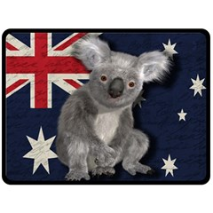 Australia  Fleece Blanket (large)  by Valentinaart