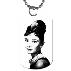 Audrey Hepburn Dog Tag (one Side) by Valentinaart