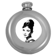 Audrey Hepburn Round Hip Flask (5 Oz)