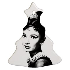Audrey Hepburn Ornament (christmas Tree)  by Valentinaart