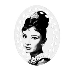 Audrey Hepburn Oval Filigree Ornament (two Sides) by Valentinaart